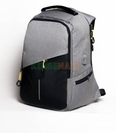 Fashion Sky-30W Black & Gray USB Laptop Backpack