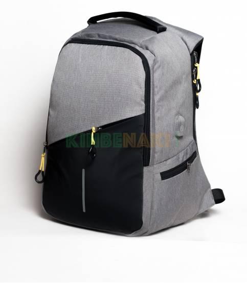 Fashion Sky-30W Black & Gray USB Laptop Backpack