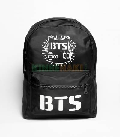 BTS Parachute Fabric Black Backpack