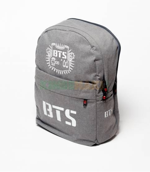 BTS Solid Gray Fabrics Backpack