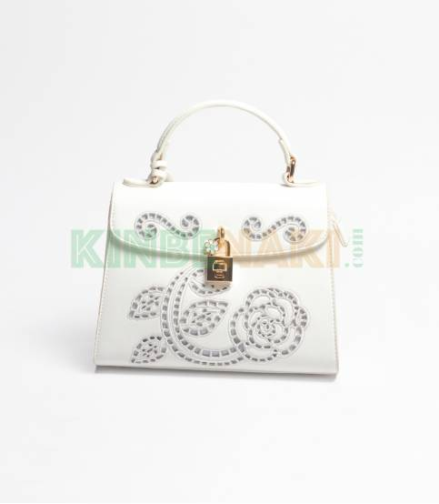 Susen Flower Whtie Hand Bag