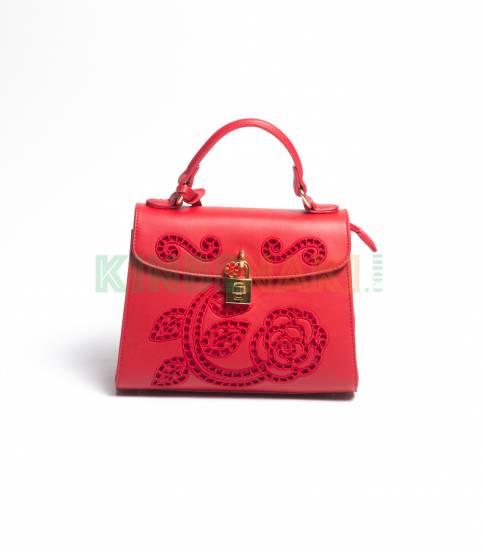 Susen Flower Red Hand Bag
