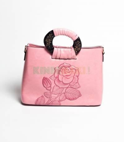 Lianhuier Pink Hand Bag