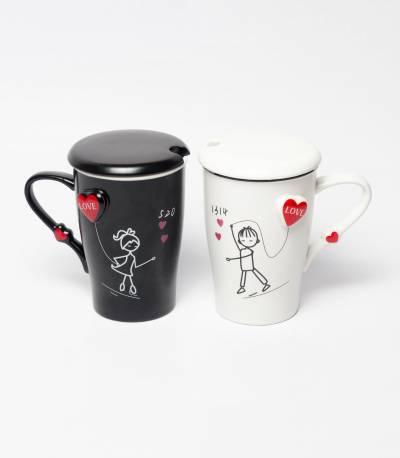 Couples Mug Black And White M1