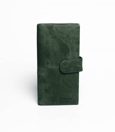 Fuerdanni Leather Green Wallet