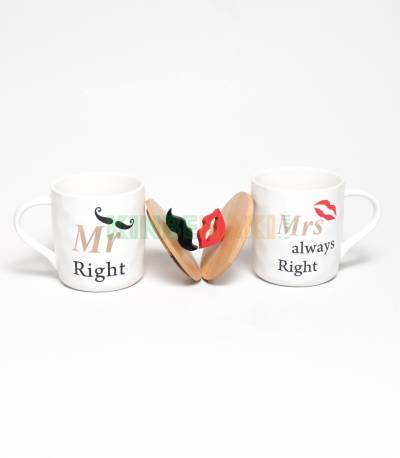 Mr And Mrs Always Right Couples Mug