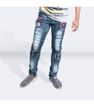 Light Blue Denim Jeans Pants for Men