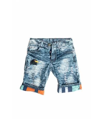 Light Blue Men Summer Short Jeans