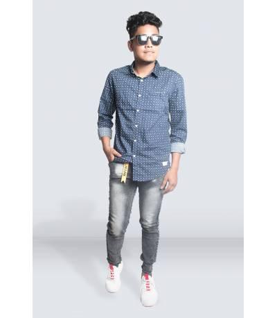 Dark Gray Jeans Pant for Men