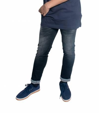 Slim Fit Black Stretch Denim Jeans For Men V2