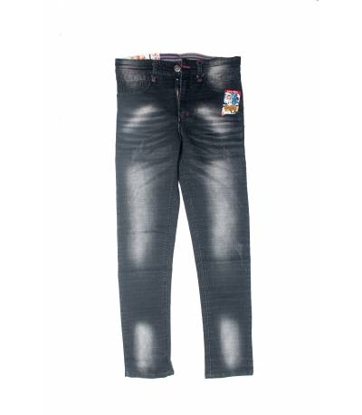 Fashionable Black Stretch Denim Jeans For Men