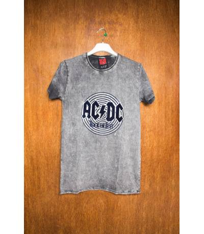 AC DC Rock Or Bust Grey T-Shirt