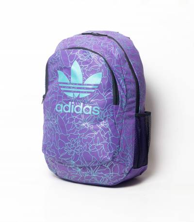Adidas Purple Color and Paste Flower Print Backpack