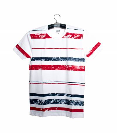 Fair Tex white red & blue design T-Shirt
