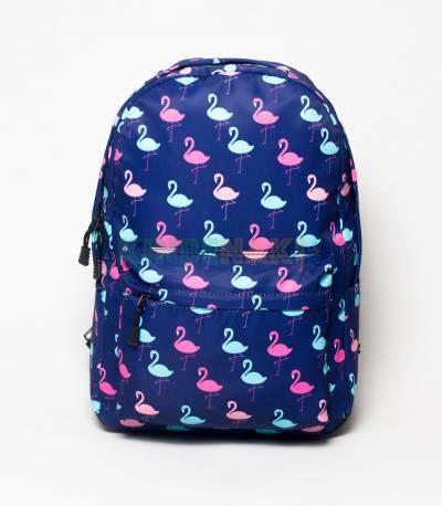 Swan Print Deep Blue Girls Backpack
