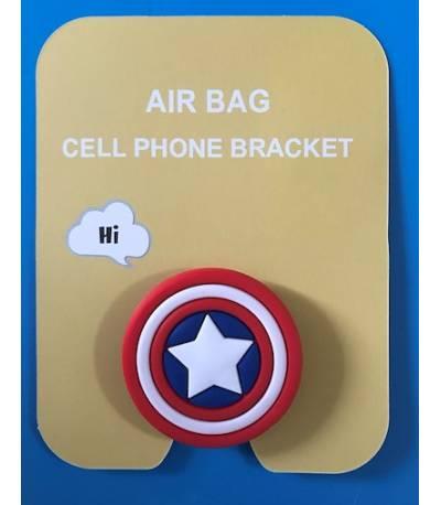Air Bag Cell Phone Bracket captain america Finger Holder