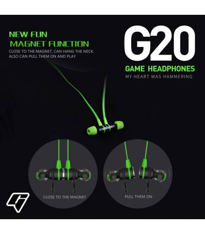 PLEXTONE G20 In-ear Earphone With Microphone Wired Magnetic Gaming Headset Stereo Bass Earbuds