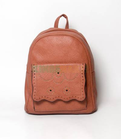 Lovely Brown Girls Mini Backpack With Design