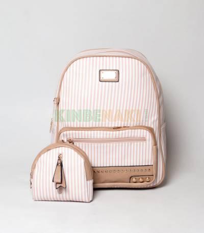 JJ Fashion Sweet & Cute Small Stripe Girls Mini Backpack