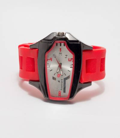 Fastrack Red Chronograph Watch for Men