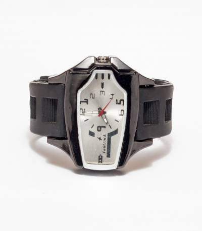 Fastrack Black Chronograph Watch for Men