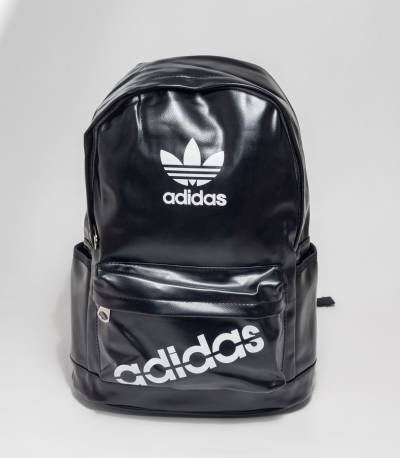 Adidas Black Rexine Backpack