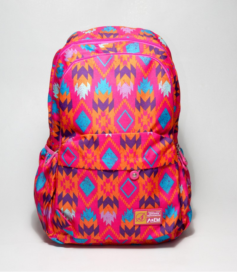 f8b911837c Buy A EM Abstract Design Pink School   College Bag in bangladesh