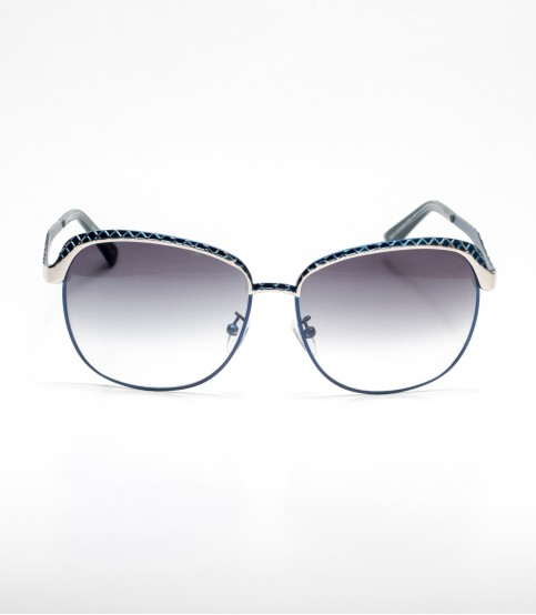 Blue Color Design Frame Ladies Sunglass