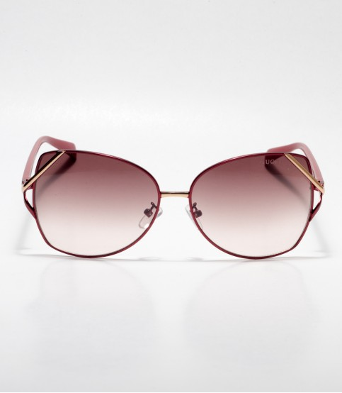 GUCCI Cat-eye Rectangular Brown Ladies Sunglass