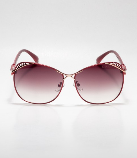 GUCCI Designed Frame Chocolate Ladies Sunglass
