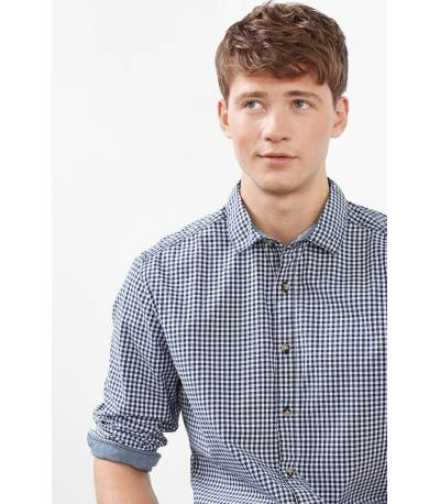 EDC Esprit White Check Shirt