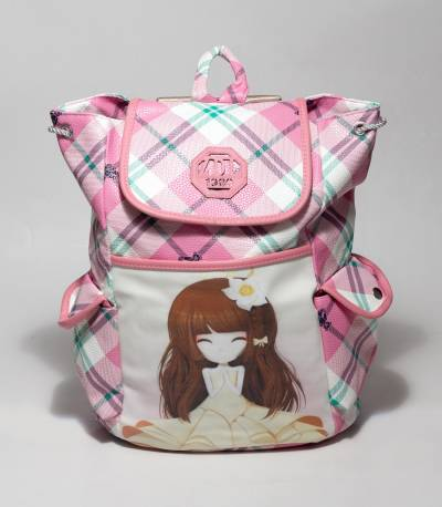 ZDL Pink Color Backpack With Girl Photo