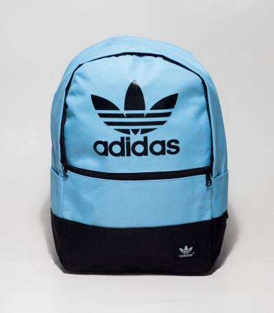Adidas Ocean Blue And Black Color Backpack