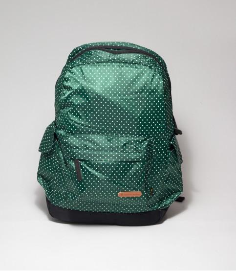 Green Backpack with Polka Dot