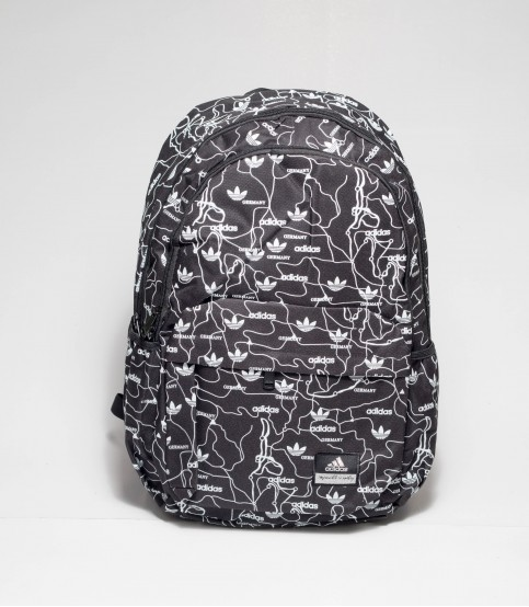Black and White Adidas Print Backpack