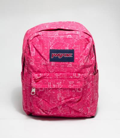 Jansport Word Print Red Backpack