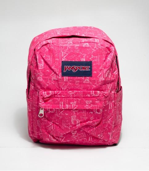 Jansport Word Print Red Backpack