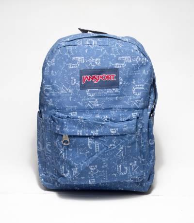 Jansport Word Print blue Backpack