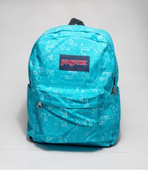 Jansport Word Print Sky Blue Backpack