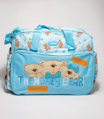 Angelo Honey Bear Sky Blue Baby Diaper Bags