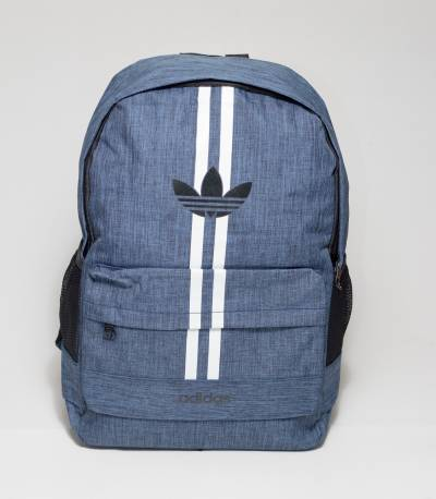 Adidas Double Stripes Blue Color Backpack