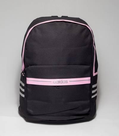 Adidas Pink Stripe Black Color Backpack