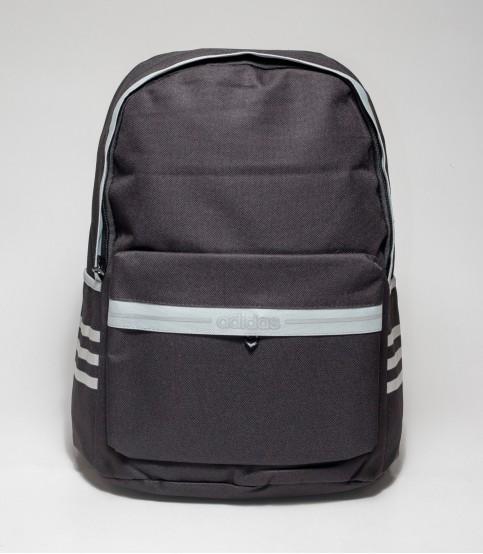 Adidas Gray Stripe Black Color Backpack