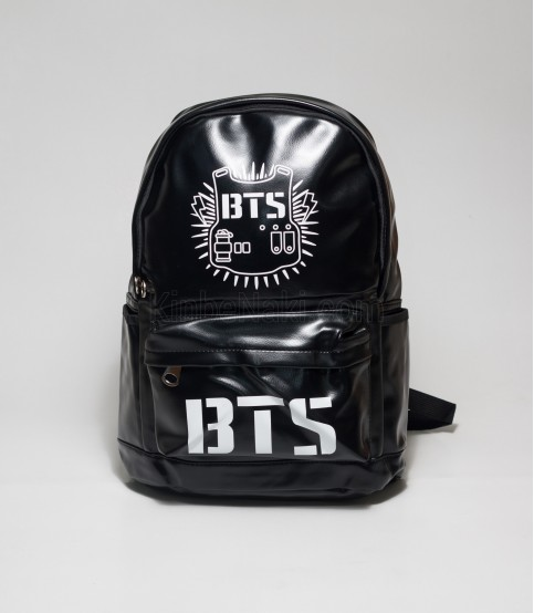 8a394a61bc6 Buy BTS Black Color Rexine Backpack in Bangladesh