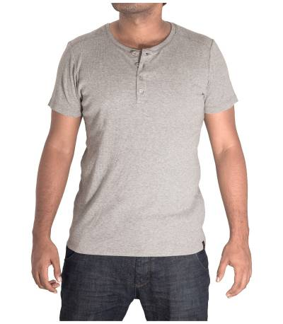 Round Neck Solid Gray T-Shirt
