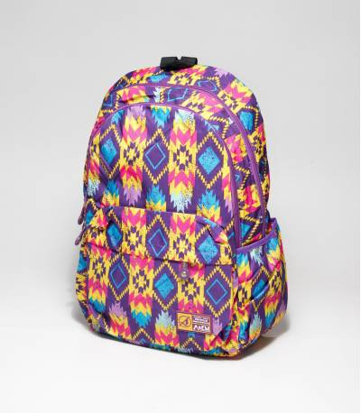 A&EM Abstract Design Purple School / College Bag