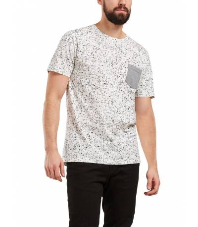 Only & Sons Printed Round Neck White T-Shirt