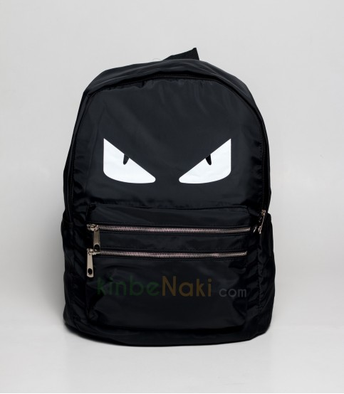 Eye Print Black Backpack