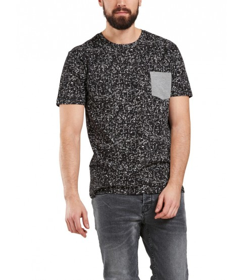 Only & Sons Printed Round Neck Black T-Shirt