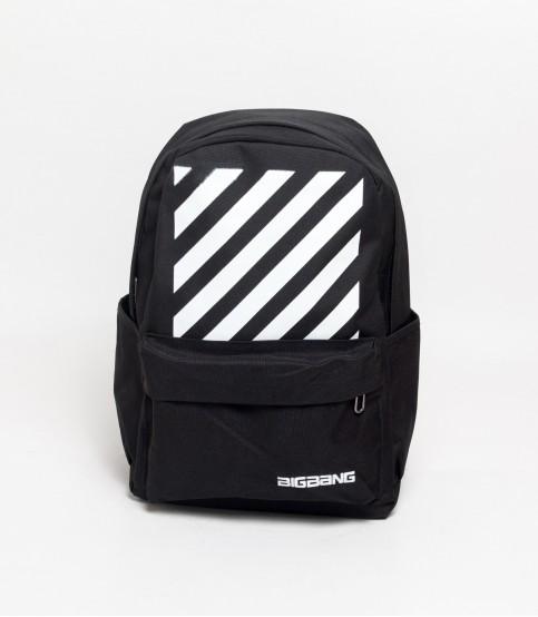 Bigbang Multi Stripe Black Backpack